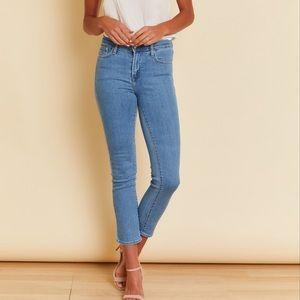 Crop cigarette jeans